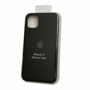 Black silicone iPhone 11 case.